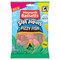 Maynards Bassetts Fizzy Fish 160g