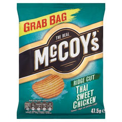 McCoy's Ridge Cut Thai Sweet Chicken Potato Crisps 47.5g
