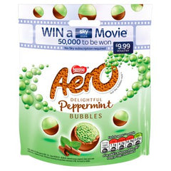 Nestle Aero Bubbles Peppermint Mint Chocolate Sharing Pouch 102g