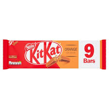 Nestle KitKat 2 Finger Orange Chocolate Biscuit Bar 20.7g 9 Pack
