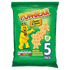 Pom-Bear Potato Snack Cheese & Onion Flavour 5pk 5 x 13g