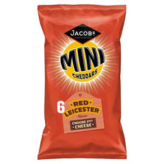 Jacob's Mini Cheddars Red Leicester Cheese Snacks 6 Pack 150g
