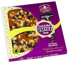 Walker's Nonsuch Fruit & Nut Toffee Slab 400g