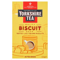 Taylors of Harrogate Yorkshire Tea Malty Biscuit Brew 40 Tea Bags 112g