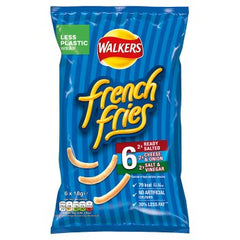 Walkers French Fries Crispy Potato Snacks Variety Pack 6 x 18g
