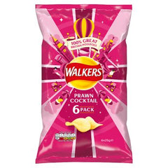 Walkers Prawn Cocktail Crisps 6pk 6 x 25g