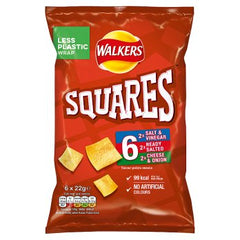 Walkers Squares Crunchy 6 Variety Packs