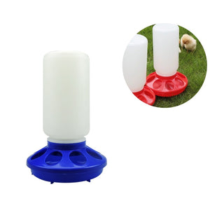 Poultry Feeding Fountain Chicken Bird Feeder Waterer Bucket Poultry Quail Drinking Cups Birds Pheasant Feeder Waterer Feeders