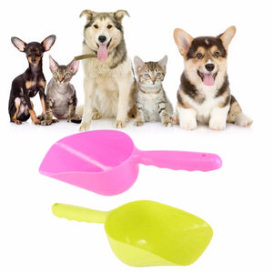 2017 Cute Pet Dog Cat Food Feeder Bowl Shovel Scoop Tool Pet Supplies Mutli-function Environmental Small Plastic Spoon