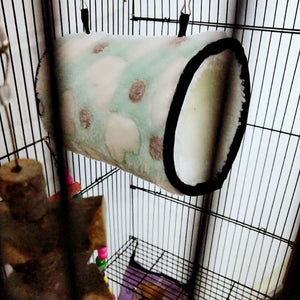 Winter Small Pet Tunnel Cages  Hamster Warm Plush Cotton Hammock Squirrel Rat Swing Nest Small Animal Accessories Supplies