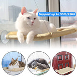Cat Beds Window Mounted Perch For Cats Cat Hammock Wood Shelf Pet Climbing Hanging Beds Supports up to 20kg