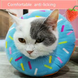 Pet Dog Cat Collar Adjustable E-Collar Wound Healing Soft Cone Smart Cone Prevent Bite Elizabeth Circle Pet Protection Collar