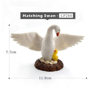 Cute Chicken Duck Goose action figure farm toys plastic animal model Gift For Kids home decoration accessories Pvc Crafts statue