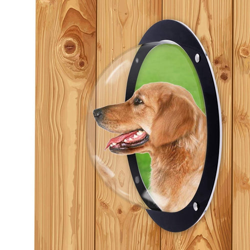 Dog Fence Window For Pet - Durable Acrylic Dog Dome For Backyard Fence, Dog House, Reduced Barking, Necessary Hardware And Ins