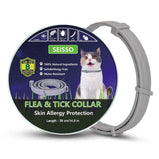 Dewel Pet Cat Collar Anti Tick Dogs Collar Pets Accessories for Cat Summer Anti-insect Necklace 8 Months Protection Waterproof