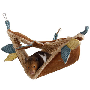 Small Pet Warm Tunnel Hammock Hanging Bed Ferret Rat Hamster Bird Squirrel Shed Cave Hut Hanging Cage Pet Birds Parrot Supplies