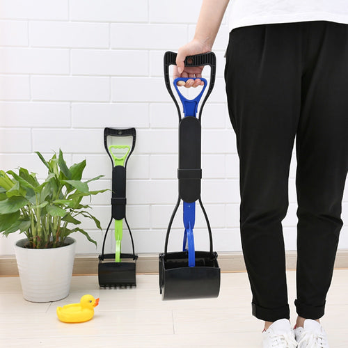 Pet Pooper Scooper Dog Poop Scooper Long Handle Jaw Poop Scoop Shovel Pick Up Animal Waste Picker Puppy Outdoor Cleaning Tools
