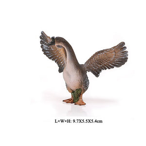 Simulation Farm Poultry Animal model Chicken Fowl Duck Goose Rooster Action figures plastic Figurines Farm series Kids Toys