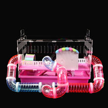Load image into Gallery viewer, Hamster Cage Supplies Pipeline Tunnel Acrylic Guinea Pig Cage Transparent External Accessories Package Maze Toy