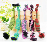 Dog Toys For Large Bite Resist Interactive Cotton Bone Rope Puppy Small Dog Toy Chew Knot Teeth Cleaning Rope Toy