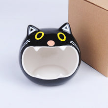 Load image into Gallery viewer, Cute Hamsters Ceramic Nest Hamsters Cave Pet House with Cat Head Pattern Design Suitable for Small Pet Chinchilla