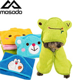 Mosodo Dog Absorbent Towel Cute Pet Dog Towel Soft Drying Bath Pet Towel For Dog Cat Hoodies Puppy Super Absorbent Bathrobes