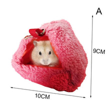 Load image into Gallery viewer, 2020 Small Pet Hamster Cage Warm Tunnel Hammock Hanging Bed Ferret Rat Hamster Bird Squirrel Cave Hut Cage Hamster Accessories