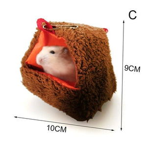 2020 Small Pet Hamster Cage Warm Tunnel Hammock Hanging Bed Ferret Rat Hamster Bird Squirrel Cave Hut Cage Hamster Accessories