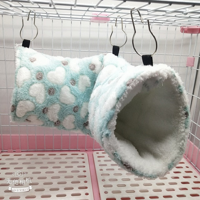 Squirrel Rat Swing Nest Cages Small Animal Hanging Cave Hedgehog Soft Warm Tunnel Cavia Guinea Pig Bed Hamster Hammock