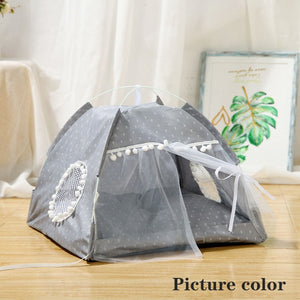 Summer Cat House Foldable Small Dogs Tent Sleeping Play Fence Playen Hamster Ferret Cats Bed Small Pets Room Nest For Small Dogs