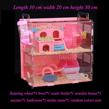 Load image into Gallery viewer, Large Size Hamster House Acrylic Small Pet Cage Transparent Oversized Villa Guinea Pig Basic Cage Toy Supplies Package Nest