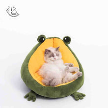 Load image into Gallery viewer, Pet Cat's House Indoor Frog Cat Bed Warm Small Dogs Beds Portable Kitten Mat Soft Cute Sleeping Loungers Window Bag Products