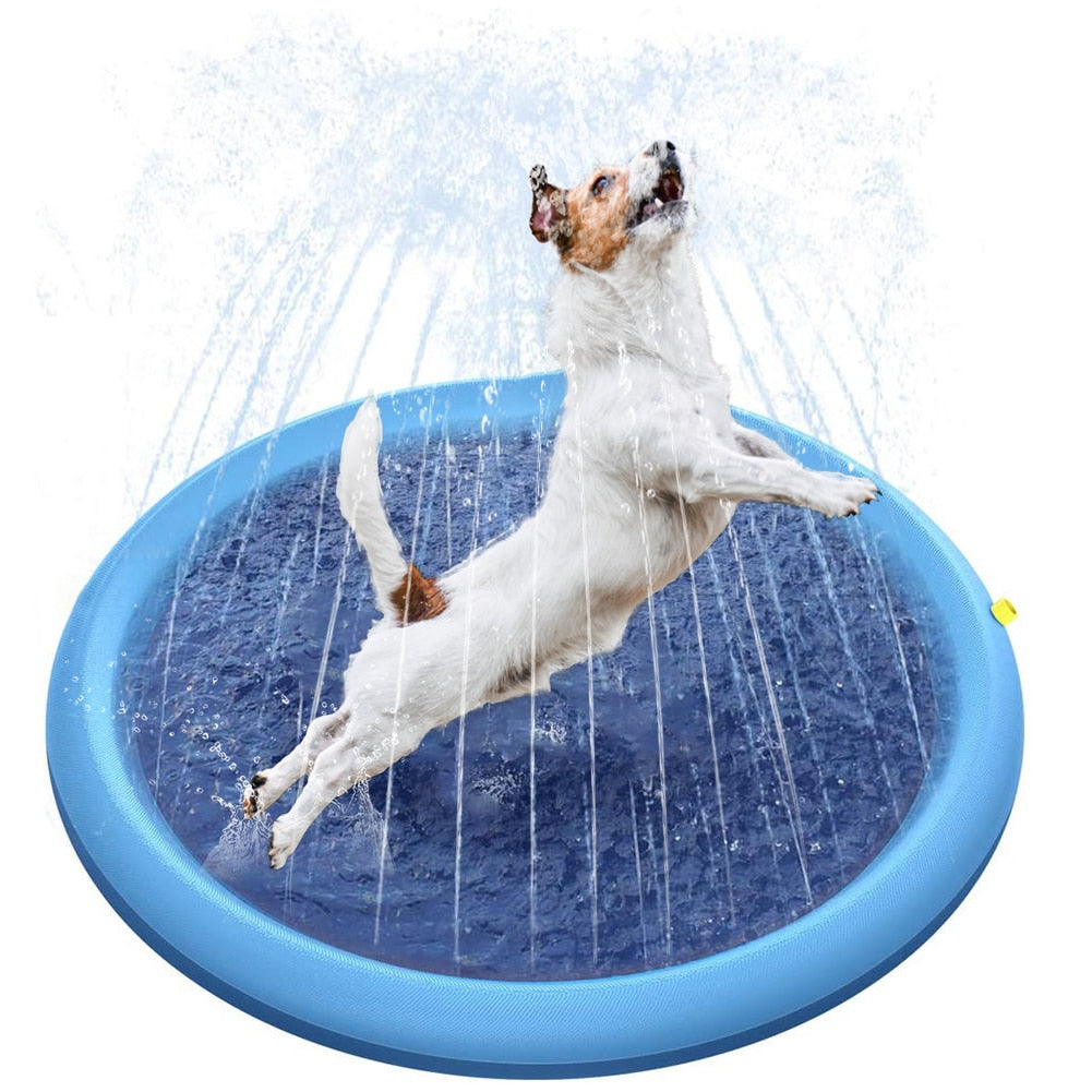 Pet Sprinkler Pad Play Mat Sprinkler Pool Outdoor Inflatable Water Spray Pad Mat Tub Swiming Pool For Dog Babies Childs