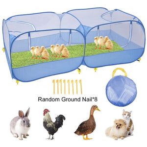 Portable Chicken Fence Outdoor Foldable Playpen Cage For Rabbit Cat Dog Duck Pet Animal Fence Chicken Coop