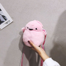 Load image into Gallery viewer, Creative super cute cute little chicken female bag Korean fashion one-shoulder messenger bag plush bag