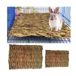 Grass Hamster Bed Woven Small Animal Mat Safe Pet Chew Toy Small Animal Rat Guinea Pig Interesting Pet Toys