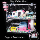 Hamster Cage Supplies Pipeline Tunnel Acrylic Guinea Pig Cage Transparent External Accessories Package Maze Toy