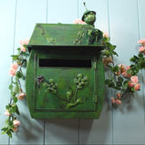 Garden decor, Villa mailbox , Green Ant Iron Mailbox Waterproof Home Decoration Garden mailbox, post box, boite aux lettres