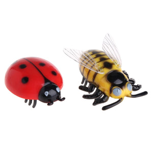 New Mini Electric Dog Cat Pet Toy Interactive Cute Ladybird Beetle Shape Cat Toys Walking Insect Toys Supplies For Cat