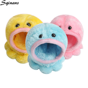 Sqinans Hamster Bed Octopus Shape Small Pet Warm Fleece PP Cotton Padded House Hedgehog Squirrel Hut Nest Guinea Pig Supplies