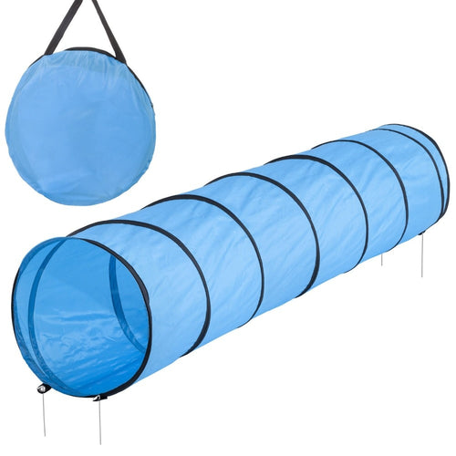 Hot sale (length)300*(width)50cm Pet tunnel Pet Dog Agility Obedience Training Tunnel Blue  300cm length for mid-sized dogs