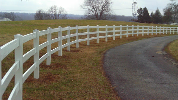 3 Rail White Vinyl for WA, OR, Northern CA - available at Fence Supply Online