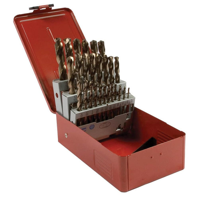 "Forney 29-Piece 8 Percent Cobalt Drill Bit Set (1/16""-1/2"" x 64ths)"