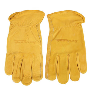 Forney Premium Cowhide Leather Driver Work Gloves (Men's M)