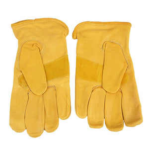 Forney Premium Cowhide Leather Driver Work Gloves (Men's L)