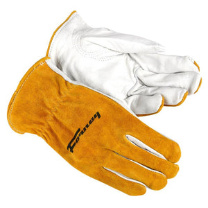 Forney Split Back Cowhide Leather Driver Work Gloves (Men's M)