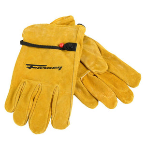 Forney Lined Suede Cowhide Leather Driver Work Gloves (Men's L)