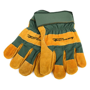 Forney Premium Cowhide Leather Palm Work Gloves (Men's L)