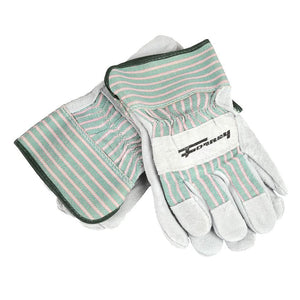 Forney Standard Cowhide Leather Palm Work Gloves, 3-Pack (Men's L)