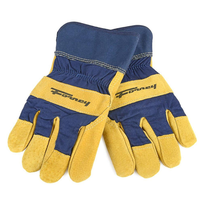 Forney Lined Premium Pigskin Leather Palm Gloves (Men's L)